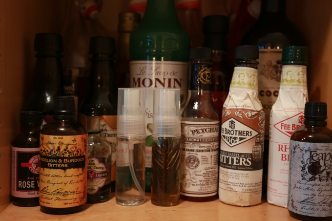 Bitters and Tinctures on the shelf