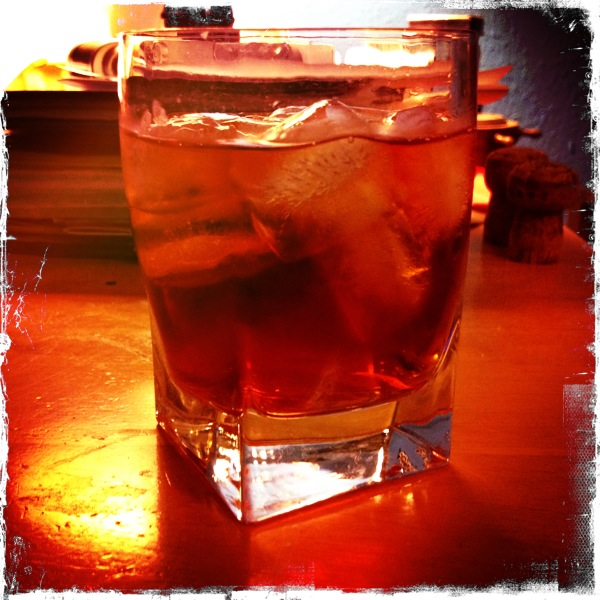 Negroni on desk