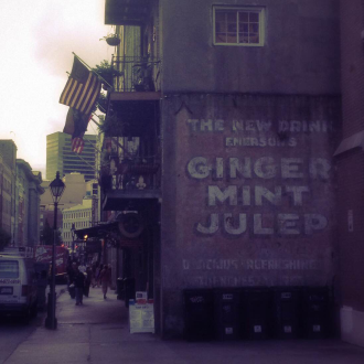 Ginger Mint Julep street advert in New Orleans