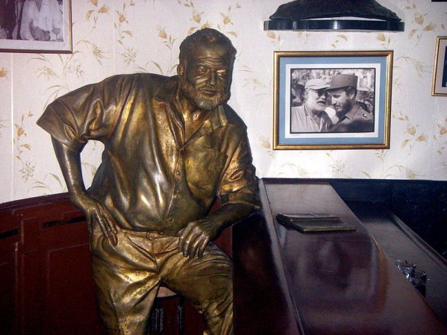 Statue of Hemingway at Floridita Bar